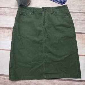 LL Bean Corduroy Pencil Skirt